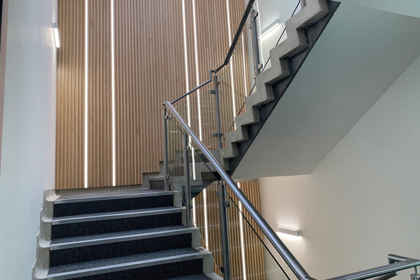 South Mall Office Fitout stairwell