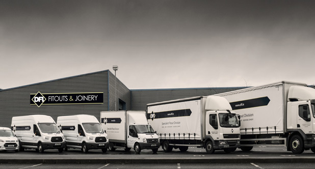 DFL Joinery Facilities and Joinery Delivery Vans