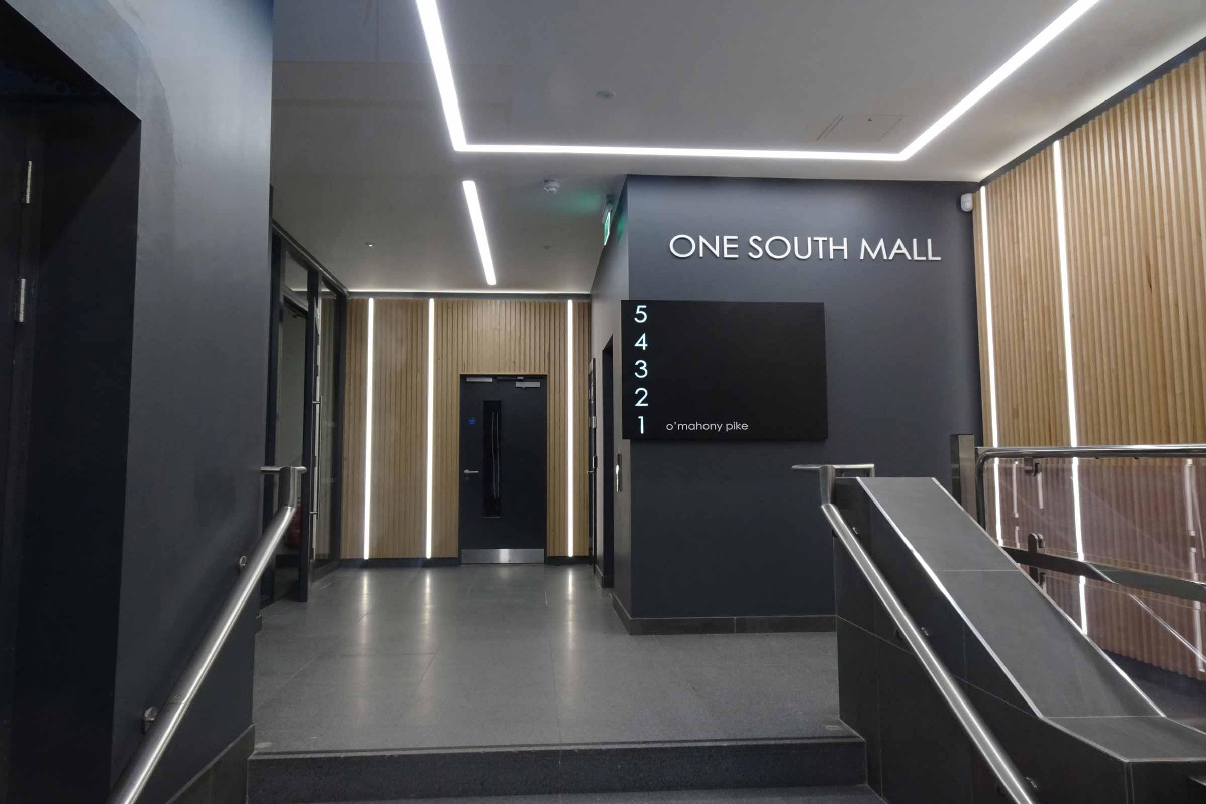 one south mall hallway
